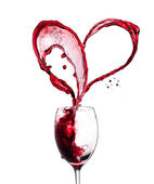 Red wine heart — Stock fotografie