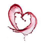 Red wine heart — Stockfoto