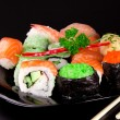 Japanese seafood sushi — Stock Photo