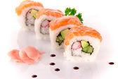 Japanese seafood sushi — Stock Photo