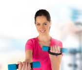 Smiling fitness woman — Stock Photo
