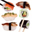 Sushi with chopsticks - Stock fotografie