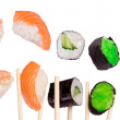 Sushi with chopsticks - Foto Stock
