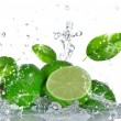 Limes with water splash — Stock Photo #22627007