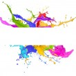 Colored splashes in abstract shape — Stock Photo #22627723
