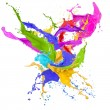 Stock Photo: Colored splashes in abstract shape