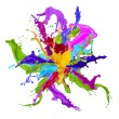 Colored splashes in abstract shape — Stock Photo