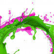Colored paint splash — Stock Photo