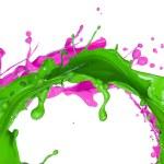 Colored paint splash — Stock Photo #22628133