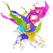 Colored splashes in abstract shape — Foto de Stock
