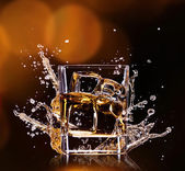 Glass with whisky — Stock Photo