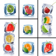 Collection of ice cubes - Stock Photo