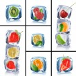 Collection of ice cubes - Foto de Stock