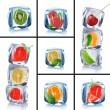 アイス キューブのコレクション — ストック写真
