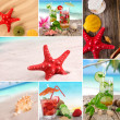 Sea shells and cocktails - Foto Stock