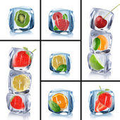 Collection of ice cubes — Stock Photo