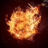 Sıcak yangın alev içinde hareket — Stok fotoğraf