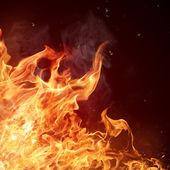 Pozadí plamenů ohně — Stock fotografie