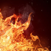 Sfondo di fiamme di fuoco — Foto Stock