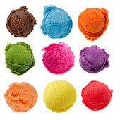 Coleção de sorvete — Foto Stock