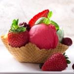 Strawberry Ice cream — Stock Photo #24328887