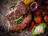 Delicious beef steaks — Stockfoto