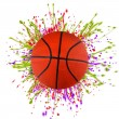 Stock Photo: Colorful splashing with basketball