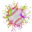 Stock Photo: Colorful splashing with baseball