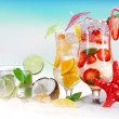 Cold Summer drinks — Stockfoto