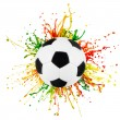 Stock Photo: Colorful splash with sport ball