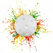 Royalty-Free Stock Photo: Colorful splash with sport ball