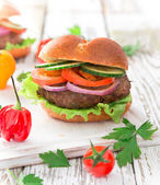 Delicious hamburgers — Stock Photo