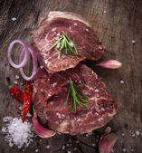 Premium Raw beef steaks — Stock Photo