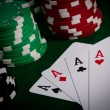 Stock Photo: Poker close-up