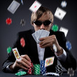 Poker player — Stock Photo