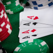 Poker close-up — Stock Photo