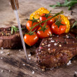 Delicious beef steak — Stok fotoğraf