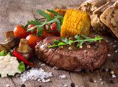 Delicious beef steak — Stock Photo