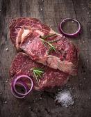 Surlonge de bœuf cru de prime — Photo
