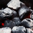 Glowing bbq coal — Stock Photo