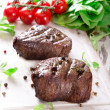 Stock Photo: Delicious beef steaks