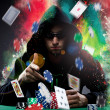 Poker player — Stock fotografie