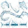 Water splashes collection — Stock Photo