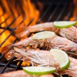 Grilled prawns — Stockfoto