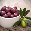 Olives with leaves — Stock Photo #28950677