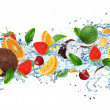 Fruit with splashing water — Stock Photo #29064061