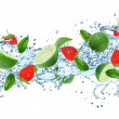 Fruit with splashing water — Stock Photo #29068863