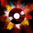 Vinyl disc with colored powder — Stock Photo #29097695