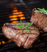 Closeup of a steak — Stock Photo
