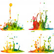 Colorful paint splashing — Stok fotoğraf